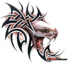 Snake Head Innovation Tattoo Tribal
