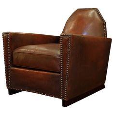 French Art Deco Lambskin Club Chair