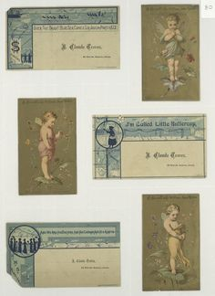 Trade cards depicting fairies