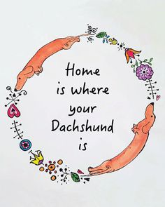 """""""Home is where your Dachshund is"""" would be a good alternate title for my essay, """"Tone Poem No. 1: 'Für Nabokov'"""" //  Check out the art print on Etsy by LongDogGeneral  //  To read my essay visit: http://www.storyhouston.com/?page_id=2563"""