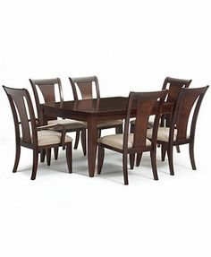Metropolitan 7-Piece Contemporary Dining Set: Rectangular Table, 4 Side Chairs and 2 Arm Chairs