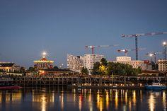 #bluehour #heurebleue #nantes Carrousel, Seattle Skyline, France, Nikon, Instagram, Travel, Nantes, Board, Viajes