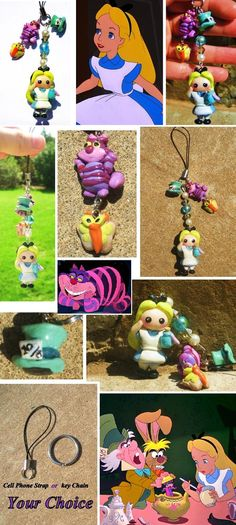 Cute Alice in Wonderland charm by ~mayumi-loves-sora on deviantART