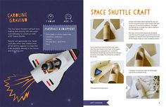 space shuttle craft inside of happy handmade ebook