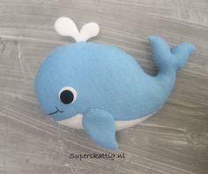 Ballena Whale Handmade of felt