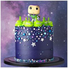 Fête Toy Story, Toy Story Party, Toy Story Theme, Bolos Toy Story, Alien Cake, Toy Story Birthday Cake, Toy Story Cupcakes, Cumple Toy Story, Disney Cakes