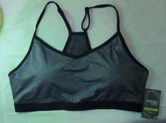 Item ID: 152401553772 Women's Size XL (16/18) DANSKIN Core Sports Bra Gray/Black Accent NWT #Danskin