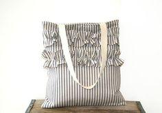SO CUTE!  ruffled tote bag / market bag / shabby chic by SassyStitchesbyLori, $40.00