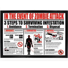 Zombie Information Chart Poster