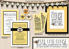 Come Unto Christ and BEE Perfected - this would be cute for the YW room bulletin board and YW in excellence