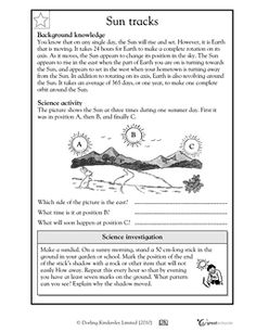 Printables Science Worksheets For 6th Grade the mailbox worksheets and earth on pinterest as rotates we see suns position in sky change in