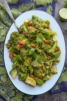 Lime Ginger Broccoli Salad is a great way to wake up your taste buds and give your body a good RESET. Find the recipe on Shutterbean.com!