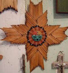 Hopi Matchstick Cross - tacky cos the Hopi don't make these, but art students do ...