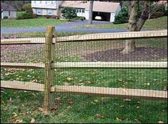 Split Rail Fence (with wire mesh)