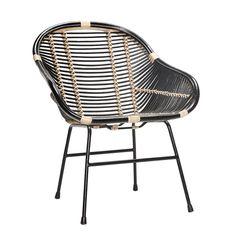 silla de rattán elm hubsch