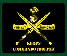 """Royal Dutch Comando Logo and Slogan """" NUNC AUT NUNQUAM """"Now or Never"""