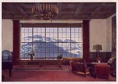 inside of the Berghof - panoramic swiss alps view l is this the same spot allied soldiers stood in?
