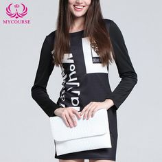 Find More Dresses Information about MYCOURSE 2016 Autumn Casual Women Bodycon…