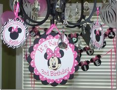"Similar to the ""Happy Birthday"" sign I made. It has minnie mouse on each end."