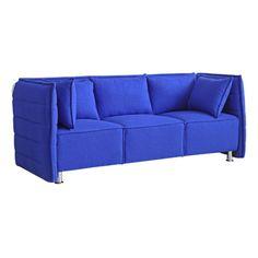 Fine Mod Imports FMI10187-blue Sofata Sofa, Blue