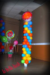Balloon decor for Candy Land birthday