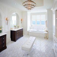 "29.4k Likes, 146 Comments - Interior Design & Home Decor (@inspire_me_home_decor) on Instagram: ""Dream master bath by @reginasturrock"""