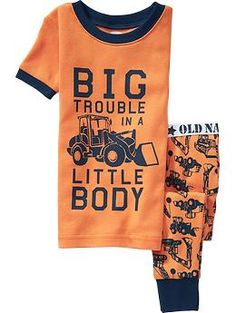 Tractor-Print PJ Sets for Baby | Old Navy