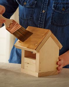 Keep cool from the summer heat with this indoor DIY birdhouse project! All you need are a few supplies and some basic tools. Find the how-to on The Home Depot's Garden Club.