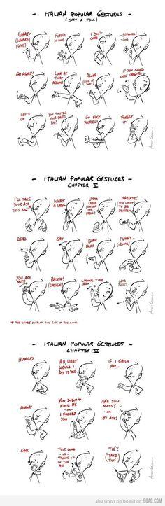 Gesti italiani più popolari