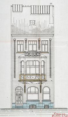 Ixelles - Rue Jean-Baptiste Colyns 102, 104, 106, 108 - BOGHEMANS Louis et Gaston