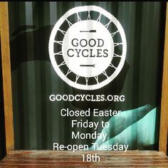 Easter Hours. Stay safe over the break and hopefully get a ride in!
