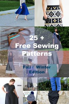 Free Sewing Patterns for Fall Winter Wardrobe: Get access to 25 of the most…