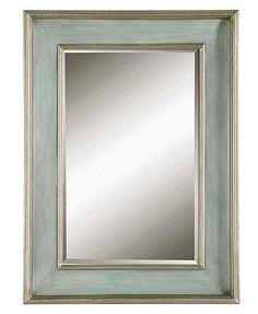 """Uttermost Ogden Blue Mirror, 26\"""" x 36\"""" at Macy's. Bedroom."""