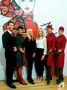 Aubrey Tiedt, Chief Customer Officer, with Megan Hess and the Alitalia's Promotional Team. #Alitalia #fashionweek
