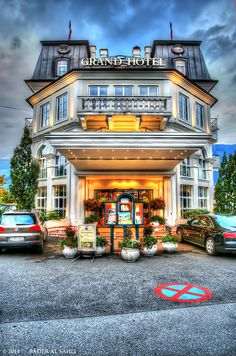 Grand Hotel, Zell am See, Austria Places Around The World, Around The Worlds, Danube River, Hdr Photography, Central Europe, Grand Hotel, Hotel Spa, Alps, Vienna