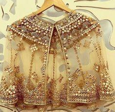 Buy Online Punjabi Wedding Lehenga Designer Collection Call/ WhatsApp us 77164 Pakistani Dresses, Indian Dresses, Indian Outfits, Lehenga Skirt, Lehnga Dress, Cape Lehenga, Lehenga Designs, Saree Blouse Designs, Golden Blouse Designs