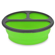 Smart Planet EC34R3 Round 3Compartment Collapsible Silicone Eco Meal Kit on The Go with Spork Green ** Check this awesome product by going to the link at the image.