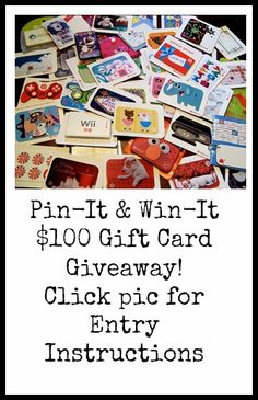 Pin-it to win-it!! Enter for a chance to win a $100 Gift Card!!! http://www.debtfreespending.com/pin-it-win-it-100-gift-card-giveaway/