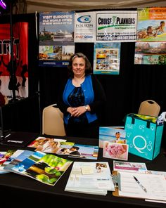 Honeymoon planning with Cruise Planners at Folsom Bridal Show.