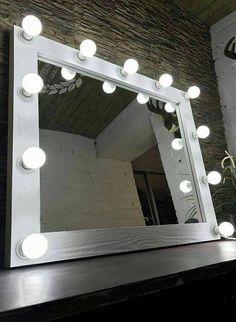 Hollywood vanity mirror-makeup mirror with lights-Makeup Artist Mirror-Lighted Mirror-Large lighted mirror, makeup artist mirror Hollywood Vanity Mirror, Lighted Vanity Mirror, Mirror Lamp, Mirror Vanity, Bulb Mirror, Best Lighting For Makeup, Makeup Vanity Lighting, Cool Lighting, Diy Makeup Mirror