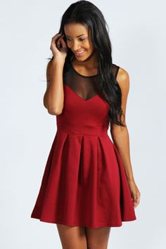Cheryl Skater Dress at boohoo.com @Hayley MacWhade