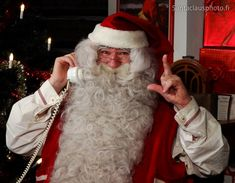 Santa Claus being busy in his House in Rovaniemi (Finland) Santa Claus Photos, Santa Claus Village, Lapland Finland, Father Christmas, Christmas Photos, Elves, House, Finland, Xmas Pics