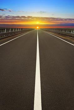Fotografia Sunset over the road de CristianVela na 500px
