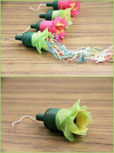 DIY ● Tutorial ● Flower party poppers: Cute favor idea for Bridal Shower
