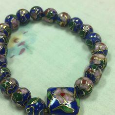 $25.00 cloisonné bead bracelet
