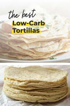 We'll not only show you how to make Low Carb Tortillas at home, but also how to shop for them at the store. Just watch out for... #ketotortillas #ketomexican #ketorecipes Low Calorie Tortilla, Low Calorie Bread, Best Low Carb Bread, Lowest Carb Bread Recipe, Low Carb Keto, Low Carb Recipes, Keto Bread, Best Low Carb Snacks, Atkins Recipes