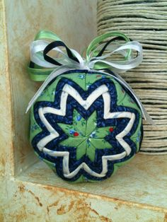 Quilted Folded Fabric Christmas Ornament by QuiltersPantry, $18.00