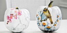 15 DIY Decoupage Pumpkins For Fall And Halloween Decor HALLOWEEN PUMPKINS