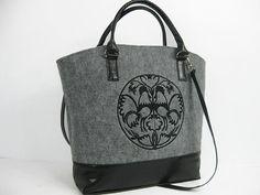 Women felt bag Felt shopperbag Felt handbag by FeltStudioDesign