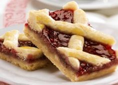 This raspberry bar cookie recipe is a take on the famous Austrian linzer cookie. Really good!